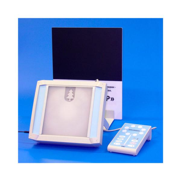 """Аппарат """"АМБЛИОТЕР"""" для лечения амблиопии, функционального недоразвития сетчатки, а также повышения остроты зрения амблиопичного глаза."""