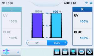 Измерение пропускания голубого света